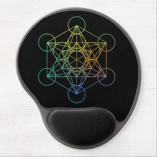 Geometría sagrada del cubo de Metatron Alfombrilla Gel
