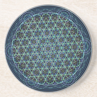 Geometría sagrada - flor de la lluvia de la vida posavasos manualidades
