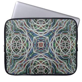 Geometría sagrada manga del ordenador portátil fundas computadoras