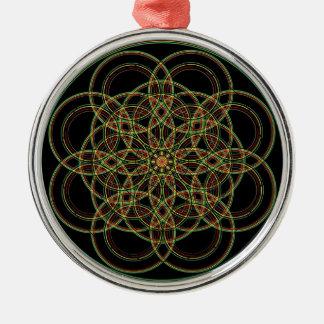 Geometría sagrada - mano dibujada ornamentos de navidad