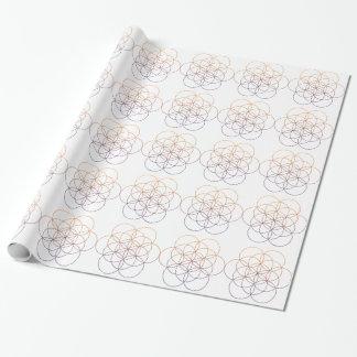 Geometría sagrada papel de regalo