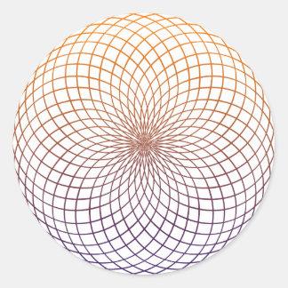 Geometría sagrada etiqueta redonda