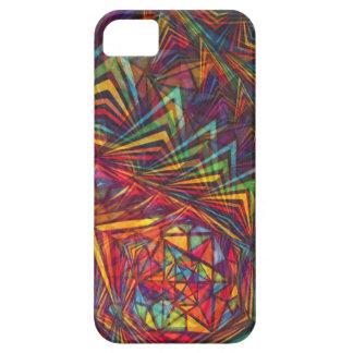 Geometría sagrada pentagonal del arco iris funda para iPhone SE/5/5s