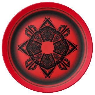 Geometría sagrada platos de cerámica