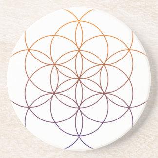 Geometría sagrada posavasos diseño