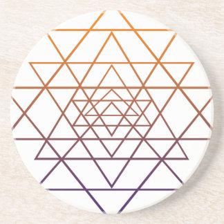 Geometría sagrada posavasos para bebidas