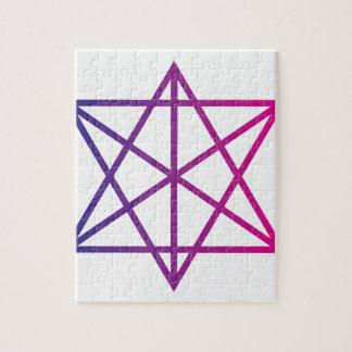 Geometría sagrada puzzle con fotos