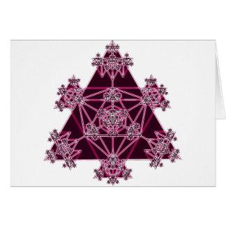 Geometría sagrada: Triángulos rosados: Tarjeta De Felicitación