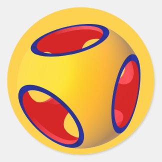 Geometría sólida constructiva pegatina redonda