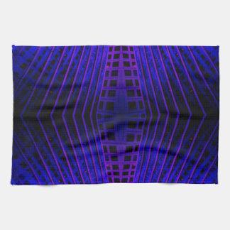 Geometría urbana del arte de la noche de la ciudad toalla de cocina
