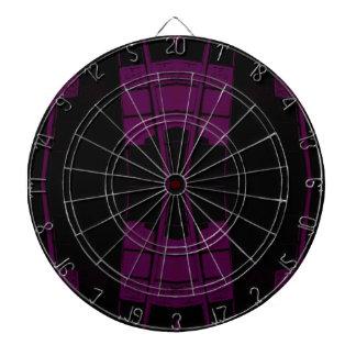 Geometría urbana púrpura y negra del arte tabla dardos