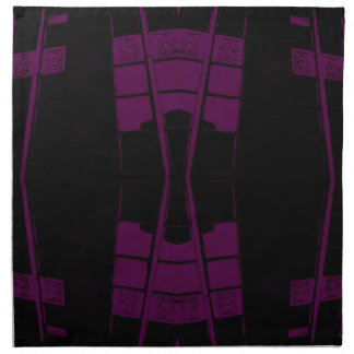 Geometría urbana púrpura y negra del arte servilleta
