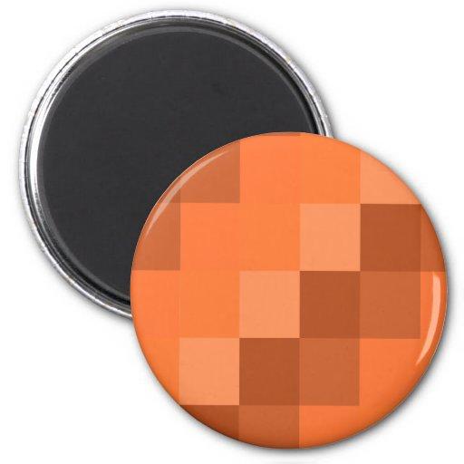 Geometrías anaranjadas imán redondo 5 cm