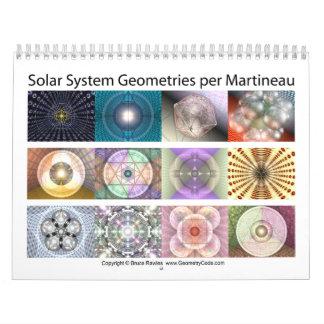 Geometrías de la Sistema Solar por Martineau Calendarios De Pared