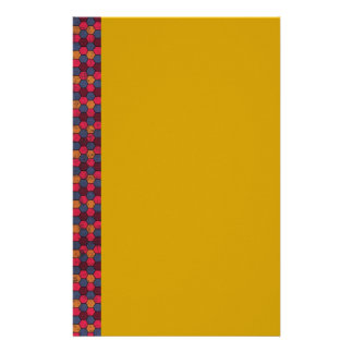 geometric09 MAROON PURPLE MUSTARD PINK COLORFUL GE Stationery
