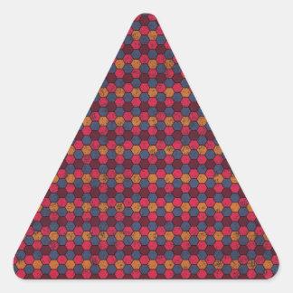geometric09 MAROON PURPLE MUSTARD PINK COLORFUL GE Sticker