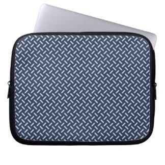 geometric30 NAVY BLUE STEEL GREY SILVER TIRE TRACK Laptop Sleeves