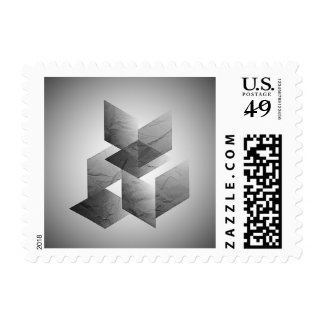 Geometric 01 black and white stamps