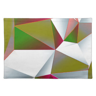 Geometric 02 green cloth placemat