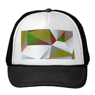 Geometric 02 green mesh hats