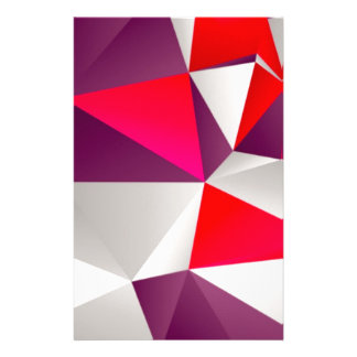 Geometric 02 red stationery