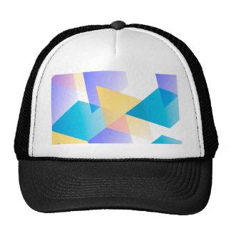 Geometric 03 blue mesh hats