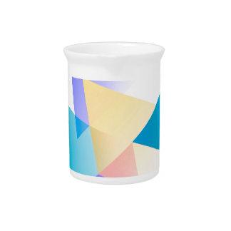 Geometric 03 blue drink pitcher