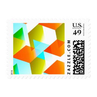 Geometric 03 orange stamps