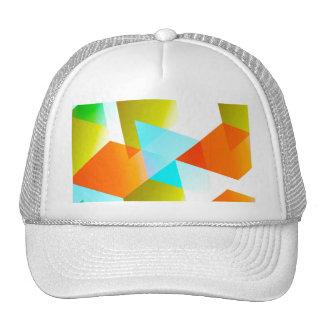 Geometric 03 orange trucker hat