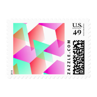 Geometric 03 pink stamps