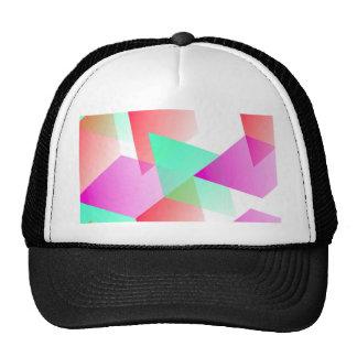 Geometric 03 pink trucker hat