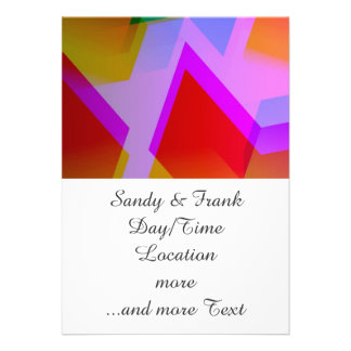 geometric 06 pink personalized announcements