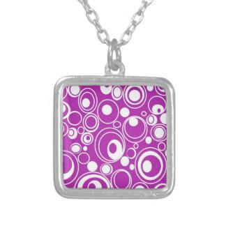 geometric-19698 GROOVY BACKGROUND PATTERN WALLPAPE Custom Necklace