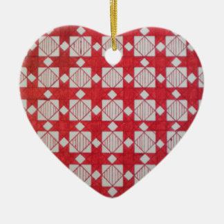 Geometric-2 Heartl Christmas Ornament