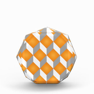 Geometric 3d cube pattern - retro design 2 award