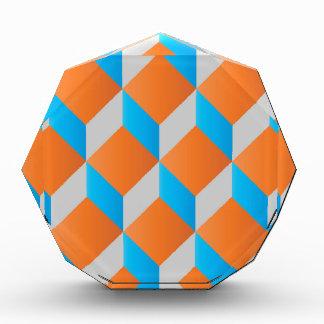 Geometric 3d cube pattern - retro design award