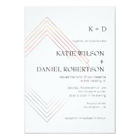 Geometric 5x7 Wedding Invitation
