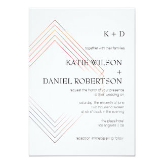 Invitation With Modern U0026 Contemporary Design   Geometric 5x7 Wedding  Invitation