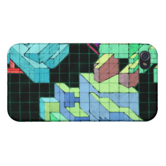 Geometric 80's Cubes Art iPhone 4/4S Cover