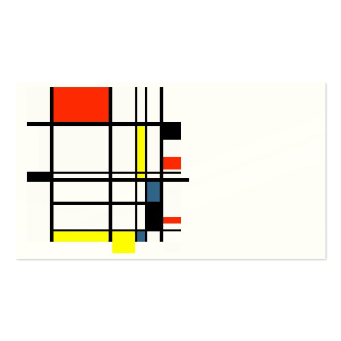 Geometric a la Mondrian business card