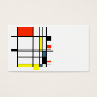 Geometric a la Mondrian business card