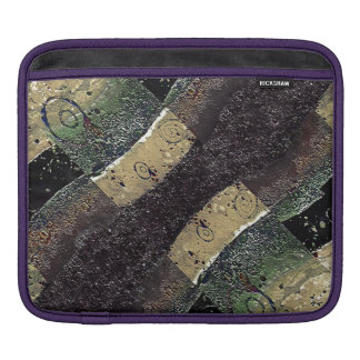 Geometric Absrtact Grunge Prints in Cold Tones iPad Sleeve
