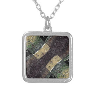 Geometric Absrtact Grunge Prints in Cold Tones Pendants