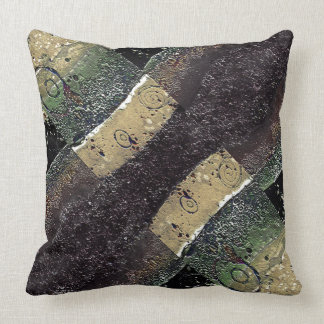 Geometric Absrtact Grunge Prints in Cold Tones Pillows