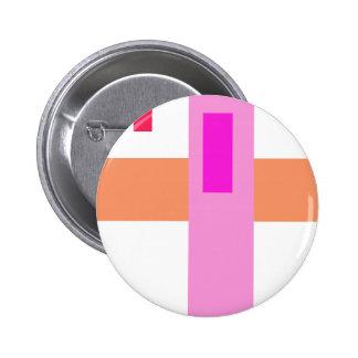 Geometric Abstract Art Minimal Pink Button