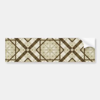 Geometric Abstract Background Bumper Sticker