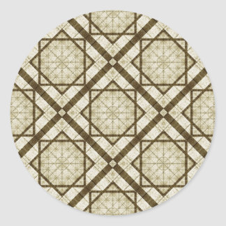 Geometric Abstract Background Classic Round Sticker