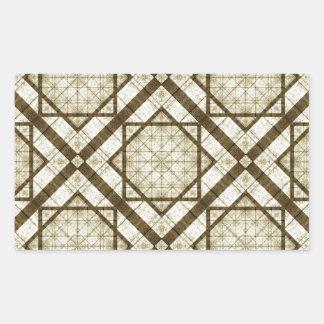 Geometric Abstract Background Rectangular Sticker