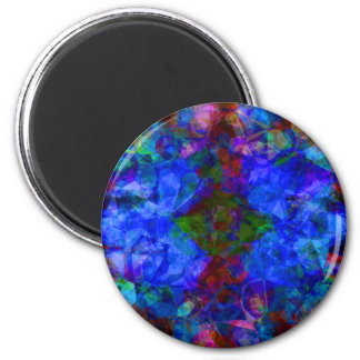 Geometric Abstract Bright Blue Magnet