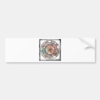 Geometric Abstract Bumper Sticker